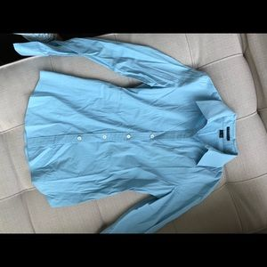 Theory slim fitting button up shirt